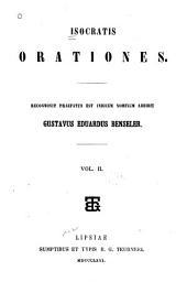 Isocrates Orationes: Volume 2
