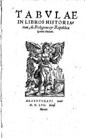 Tabulae in libros historiarum, de religione et republica Johannis Sleidani