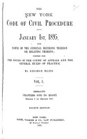 The New York Code of Civil Procedure as it is January 1st  1895 PDF