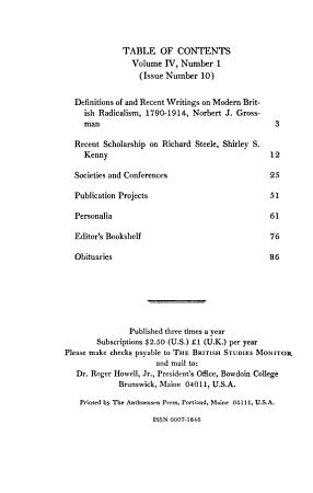 British Studies Monitor PDF