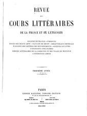 Revue des cours littéraires de la France et de l'étranger: Numéros1à26