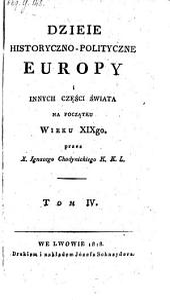 Dzieje historycno-polityczne Europy i innych czesci swiata ...