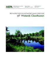 Methods for evaluating wetland condition 7 wetlands classification.