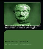 Passions and Moral Progress in Greco Roman Thought PDF