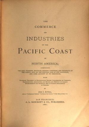 The Commerce and Industries of the Pacific Coast of North America PDF