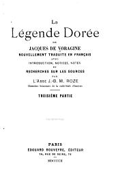 La Légende dorée de Jacques de Voragine: Volume3