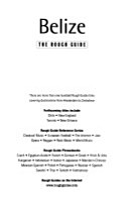 Belize  the Rough Guide PDF
