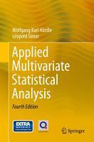 Applied Multivariate Statistical Analysis PDF