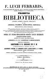 Prompta bibliotheca canonica, juridica, moralis, theologica: nec non ascetica, polemica, rubricistica, historica, Volume 2