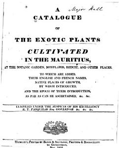 A Catalogue of the Exotic Plants Cultivated in the Mauritius PDF
