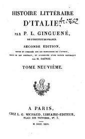Histoire littéraire d'Italie: Volume9
