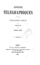 Annales télégraphiques ...