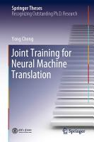 Joint Training for Neural Machine Translation PDF