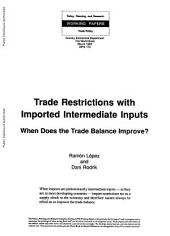 Trade Restrictions with Imported Intermediate Inputs: When Does the Trade Balance Improve?