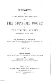 United States Reports: Cases Adjudged in the Supreme Court, Volume 58