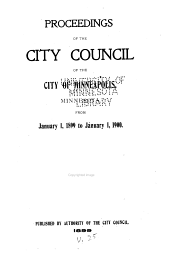 Proceedings of the City Council of the City of Minneapolis, Minnesota From...: Volume 25