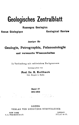 Geologisches Zentralblatt