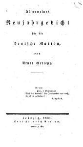 Allgemeines neujahrgedicht für die deutsche nation ...