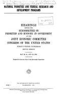 National Priorities and Federal Research and Development Programs PDF