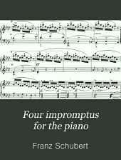 Four impromptus for the piano: op. 90, Part 899