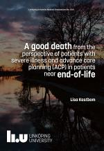 A good death from the perspective of patients with severe illness and advance care planning (ACP) in patients near end-of-life