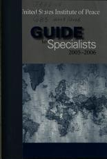 Guide to Specialists PDF