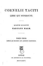 Cornelii Taciti Libri qui supersunt: Volume 1