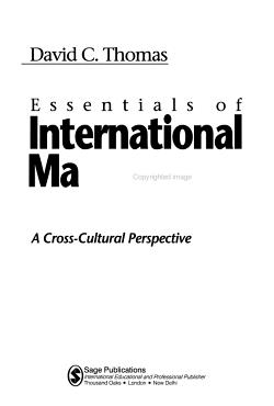 Essentials of International Management PDF
