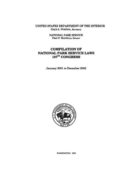 Download Compilation of National Park Service Laws of the     Congress Book