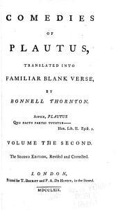 Comedies of Plautus: Trinummus. Mercator. Aulularia. Rudens