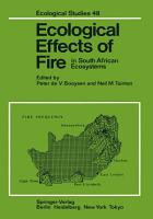 Ecological Effects of Fire in South African Ecosystems PDF