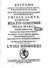 Epitome della vita del b. Giacomo della Marca