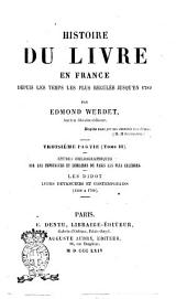 Histoire Du Livre En France