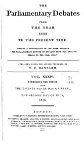 Parliamentary Debates: Official Report : ... Session of the ... Parliament of the United Kingdom of Great Britain and Ireland, Volume 34