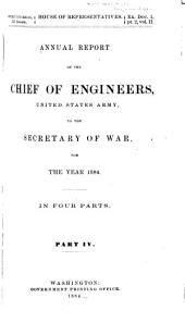 Annual Report of the Chief of Engineers to the Secretary of War for the Year ...: Volume 4