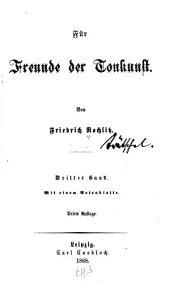 Für Freunde der Tonkunst: Bände 3-4