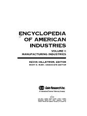 Encyclopedia of American Industries  Manufacturing industries PDF
