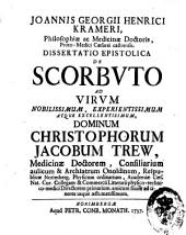 J. G. H. K. ... Dissertatio epistolica de scorbuto