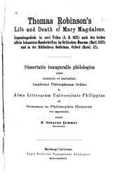 Thomas Robinson's Life and death of Mary Magdalene