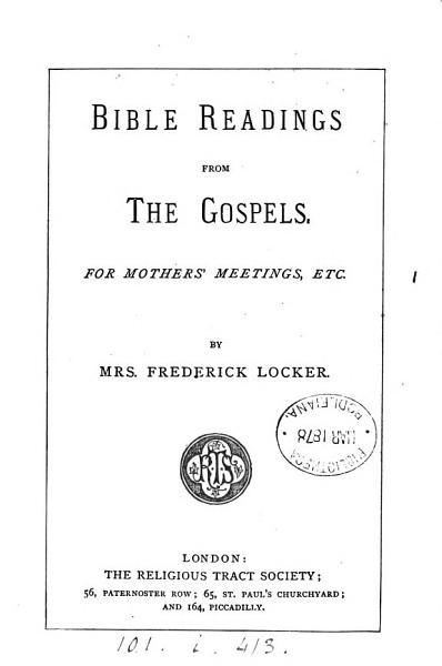 Download Bible readings from the Gospels Book