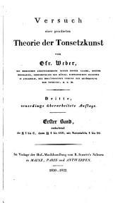 Versuch einer geordneten Theorie der Tonsetzkunst: Band 1