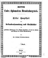 Codex diplomaticus brandenburgensis: Sammlung der urkunden, chroniken und sonstigen quellenschriften für die geschichte der mark Brandenburg und ihrer regenten, Band 6