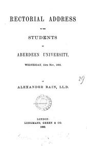 Rectorial address to the students of Aberdeen university