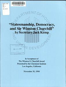 Statesmanship  Democracy  and Sir Winston Churchill PDF