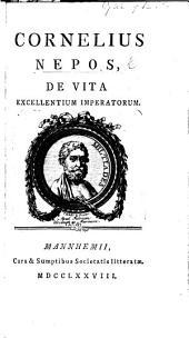 Cornelius Nepos de Vita excellentium Imperatorum