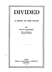 Divided: A Story of the Veldt