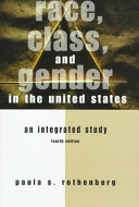 Race  Class  and Gender in the United States Book