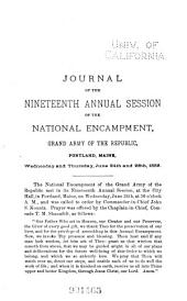 Journal of the National Encampment, Grand Army of the Republic: Volume 19
