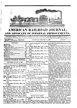 American Railroad Journal  and Advocate of Internal Improvements