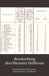 Beschreibung des Oberamts Heilbronn: Bände 1-2